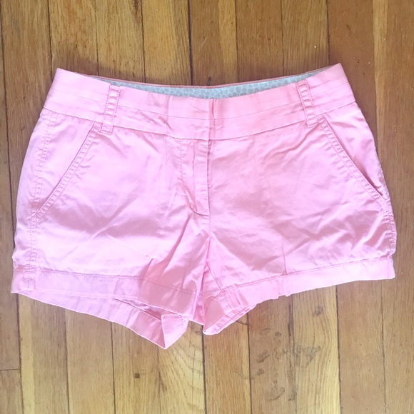 "J. Crew Pants - J Crew Light Pink 3 1/2"" Chino Short, Size 0"